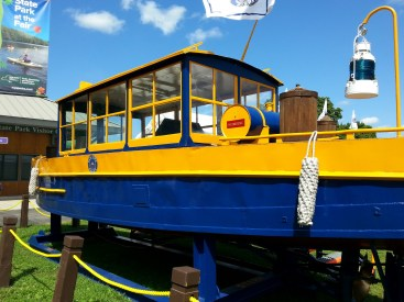 This boat was on display at the Park at the Fair area. It was used on the Erie Canal.