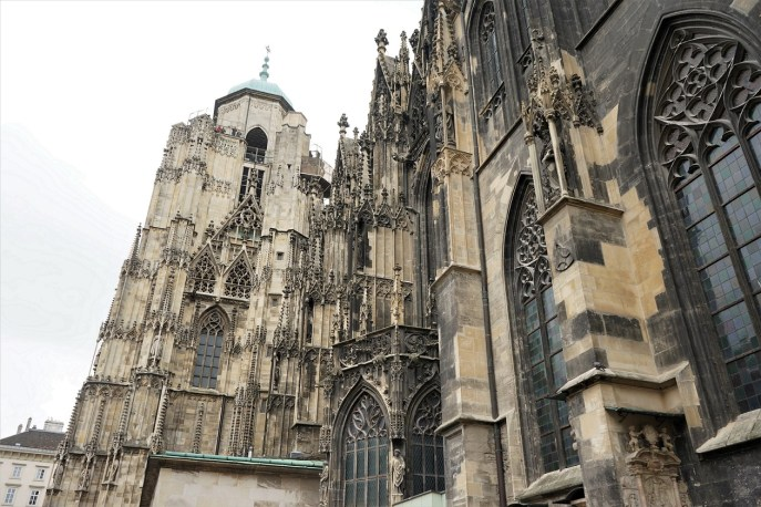 View of the North Tower. It was capped with that dome when construction on the Cathedral stopped around 1511.