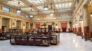 This is the East Hall, it is the original dining room of the Union Station. Today it can be rented and is used for a variety of events and activities. There were shops in there when I looked in.