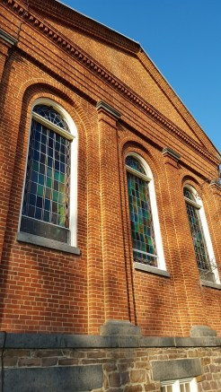 Exterior View of the Stained Glass Windows