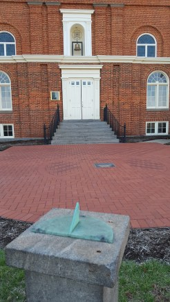 There's a small sundial in front of the Chapel!