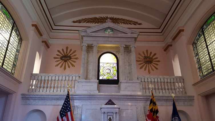 St. Joseph's Chapel was designated in 1999 as the National Fallen Firefighter's Memorial Chapel and dedicated to the memory of Chief A. Marvin Gibbons, who had was the past president of the Maryland State Fireman's Association.