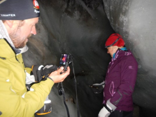 Photographing in the cave