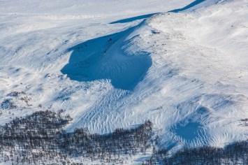Fina formationer i snön