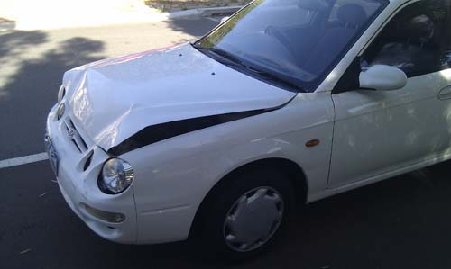 Damage to our car