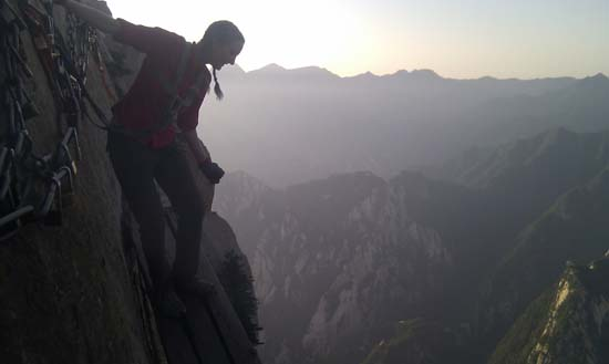 Huashan Plank Walk at dawn