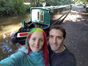 Us with boat