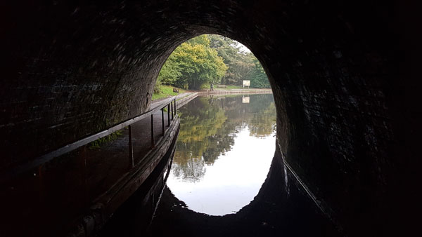 Entering Chirk Tunnel