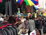 Namdaemun Market - ladies going nuts over discounted coats and jackets.