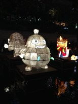Lots of cartoon character lanterns.