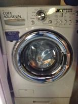 Washing machine display.