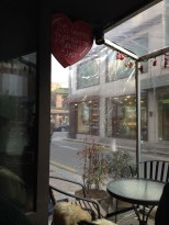 View from inside Gentle Lady Cupcake.