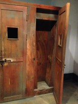 Another torture box, which prevented the prisoner from standing or sitting comfortably.