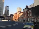 Walking up to Tokyo Station.