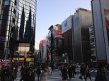 Big intersection in Ginza.