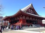 A side view of the Sensoji Temple.