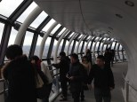 Up in the 450-meter observation deck.