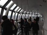 Up in the 450-meter observation deck.