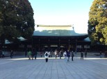 Main hall of the Meiji Shrine.