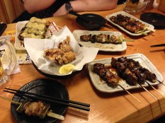 Yakitori place in Shibuya. We waited a long while for it, but it was worth it!