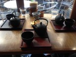 Enjoying some Japanese tea. It felt fancy to me. Apparently it was just regular tea.