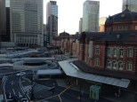A view of Tokyo Station from one of the surrounding buildings.