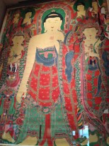 Buddhist Hanging Scroll for Outdoor Rituals - Joseon Dynasty - it takes up two stories of wall space.