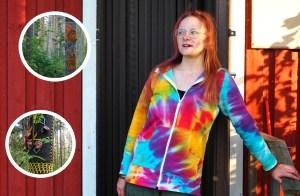 Oulunsalosta löytyy todellinen taikametsä! Mirjami rakensi taidepolun, jossa voi vaikka kutoa ryijyä