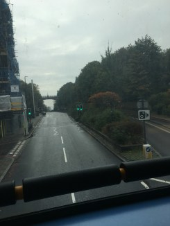 view from the top of the bus