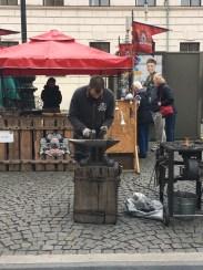 blacksmith at the market