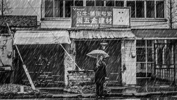 Raining in Shanghai