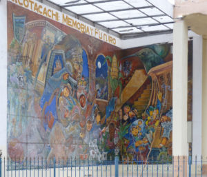 Mural in Cotacachi in Ecuador Andean Highlands