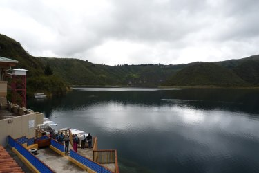 View of Lake Cuicocha - near Cotacachi in Ecuador Andean Highlands