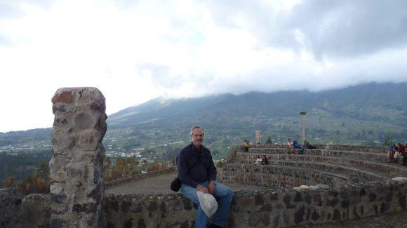 View from Parque Condor Bird rehab facility in Otavalo.