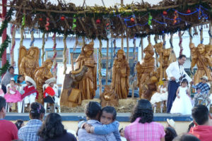 Christmas pageant in San Antonio de Ibarra, known for its woodcarving craftsmen.