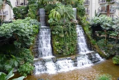 Nashville Gaylord Opryland Resort twin waterfalls