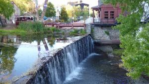 Waterfall next to Buck's County Playhouse in New Hope, PA