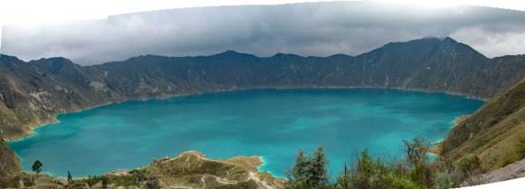 Quilotoa lake panoramic view