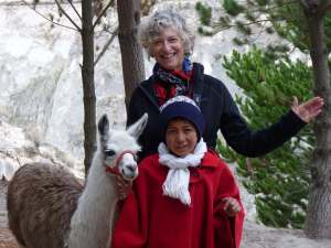 Quilotoa Loop, Wendy and a local youngster