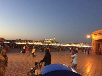 marrekech square at night in morocco