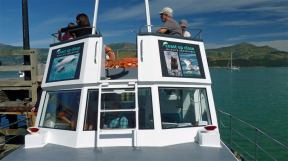 Akaroa New Zealand - Coast Up Close Boat Upper Deck