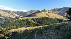 Akaroa mountains view near Christchurch