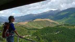 View from the lookout atop Conical Hill in Hanmer Springs