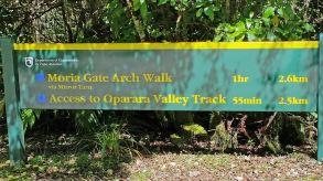 Track sign for Oparara Walks