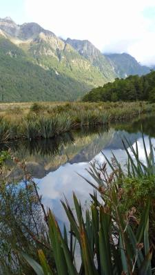 Mirror Lakes Fiordland enroute to Milford Sound