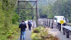 Pedestrian bridge along Milford Road over Tutoko River
