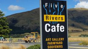 Five Rivers Cafe, Art Gallery and Bar, located halfway between Queenstown and Te Anau.