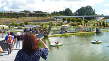 Huka Prawn Park, paddleboats and prawn fishing ponds