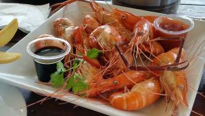 Huka Prawn Park, steamed prawn lunch