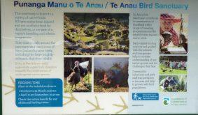 Te Anau Bird Sanctuary sign